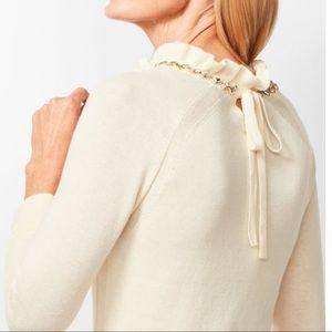 Sale! Ivory jewel neck top